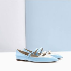 NWT Zara Size 6 Colorblock Flats
